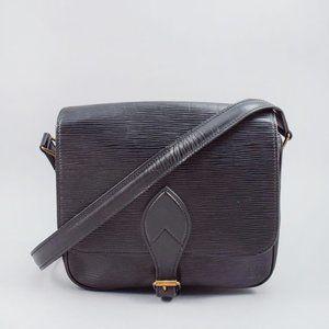 Louis Vuitton Black Epi Cartouchiere MM